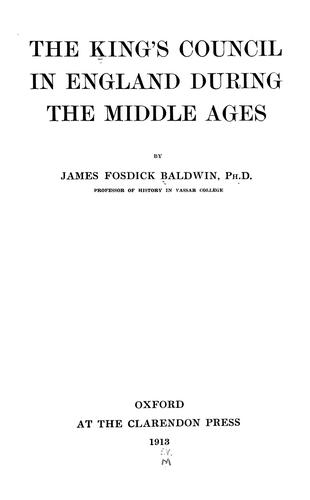 Download The king's council in England during the middle ages