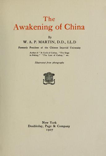 Download The awakening of China