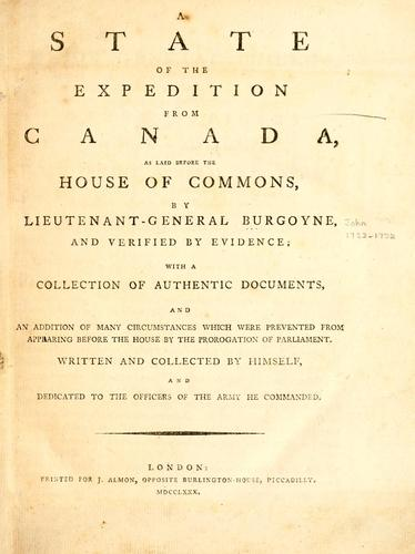 Download A state of the expedition from Canada