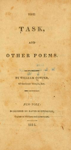 The task, and other poems.