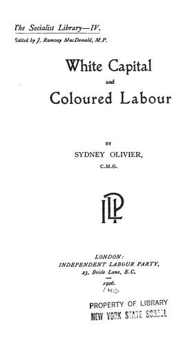 White capital and coloured labour