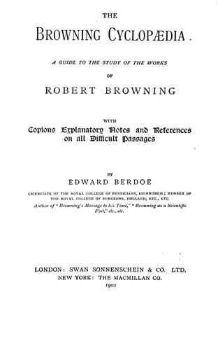 Download The Browning cyclopædia