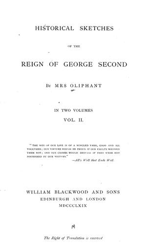 Download Historical sketches of the reign of George Second