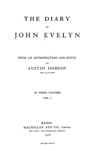 Download The diary of John Evelyn