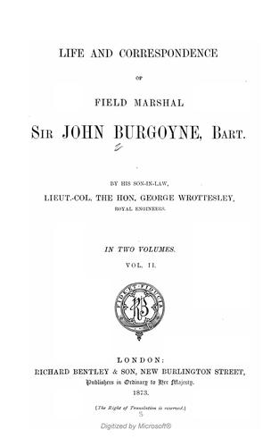 Download Life and correspondence of Field Marshal Sir John Burgoyne, bart.