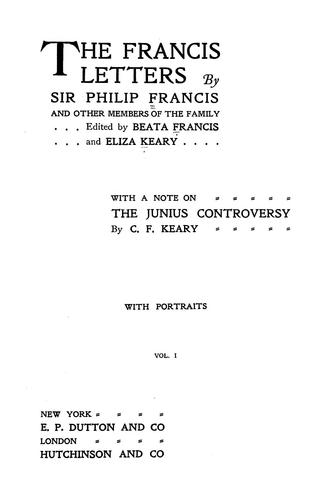 The Francis letters