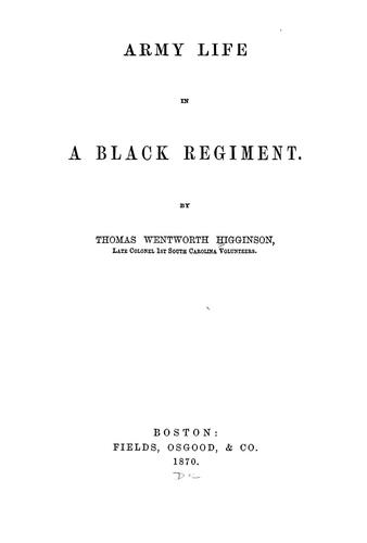 Download Army life in a black regiment.