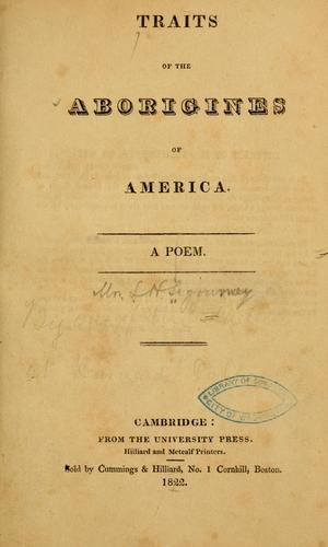 Download Traits of the aborigines of America