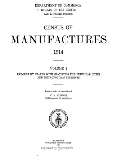 Census of manufactures, 1914