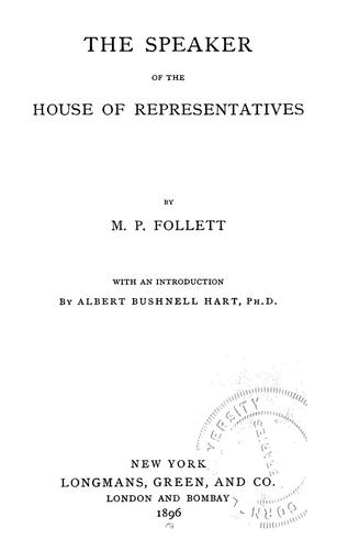 Download The speaker of the House of representatives