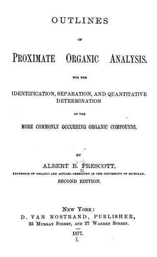 Download Outlines of proximate organic analysis.