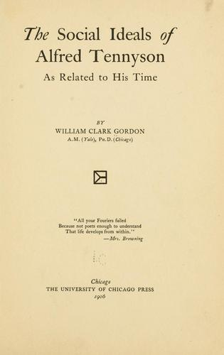 Download The social ideals of Alfred Tennyson as related to his time …