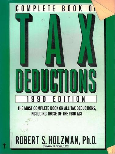 Download Complete Book of Tax Deductions