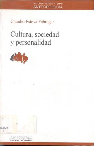 Cultura, Sociedad y Personalidad
