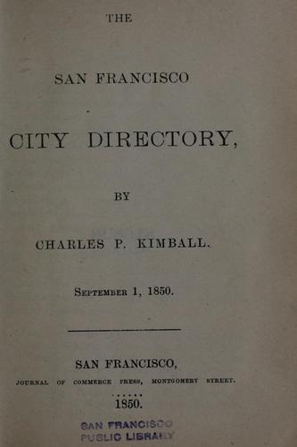 The San Francisco city directory
