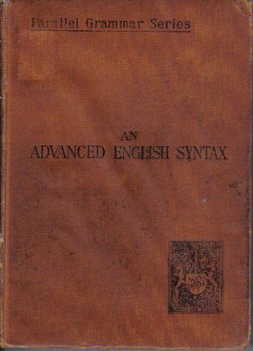 An Advanced English Syntax