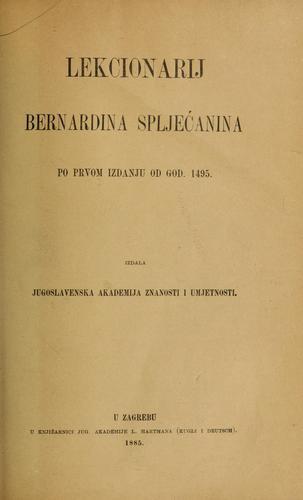 Lekcionarij Bernardina Spljećanina