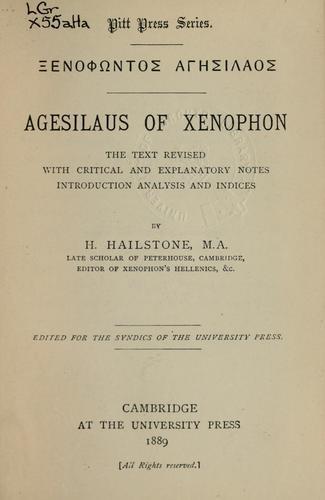Xenophōntos Agēsilaos