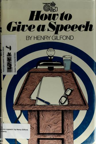 How to give a speech