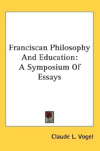 Franciscan Philosophy And Education