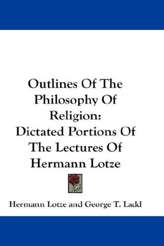 Download Outlines Of The Philosophy Of Religion