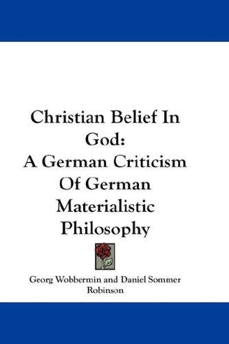 Christian Belief In God