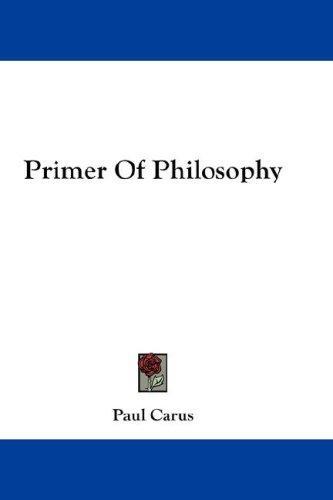 Download Primer Of Philosophy