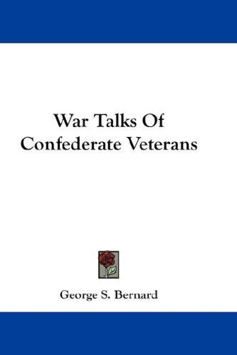 Download War Talks Of Confederate Veterans
