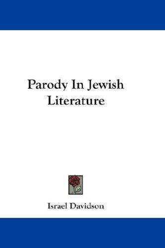 Download Parody In Jewish Literature
