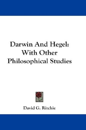 Darwin And Hegel