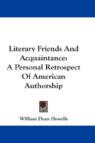 Literary Friends And Acquaintance