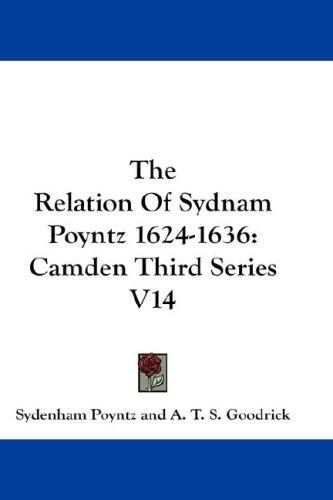 The Relation Of Sydnam Poyntz 1624-1636