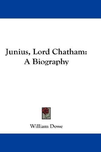 Junius, Lord Chatham