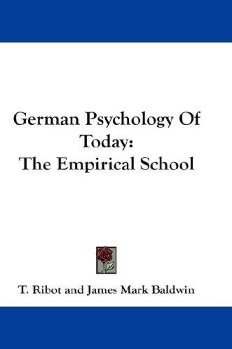 German Psychology Of Today