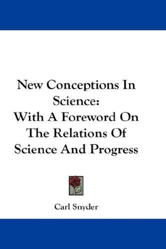 New Conceptions In Science