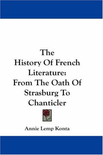 The History Of French Literature