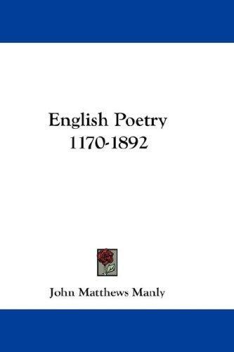 English Poetry 1170-1892