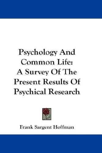 Psychology And Common Life