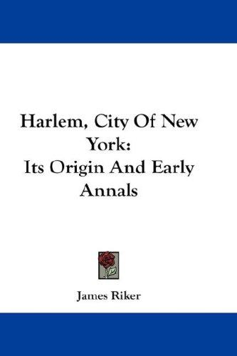 Harlem, City Of New York