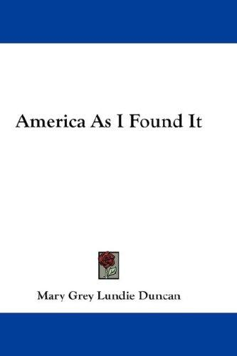 Download America As I Found It