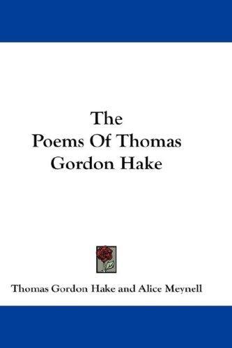 Download The Poems Of Thomas Gordon Hake