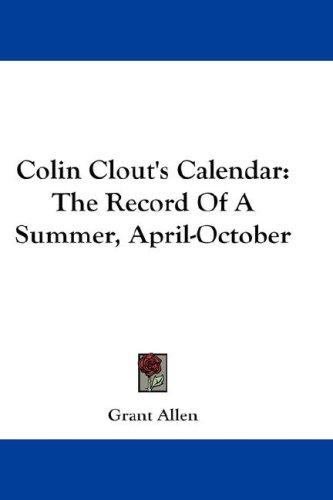 Colin Clout's Calendar