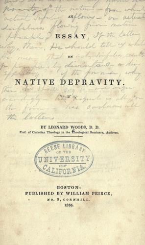 An essay on native depravity