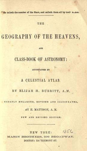 Download The geography of the heavens and class-book of astronomy