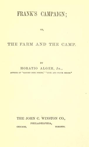 Download Frank's campaign, or, The farm and the camp