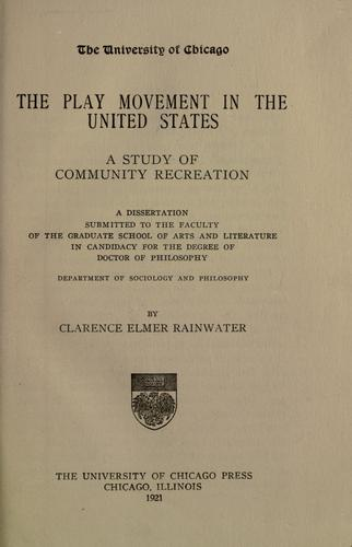 Download The play movement in the United States
