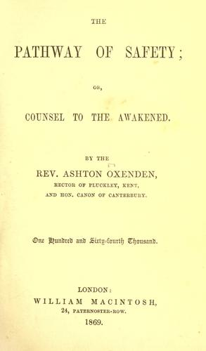 Download The pathway of safety, or, Counsel to the awakened