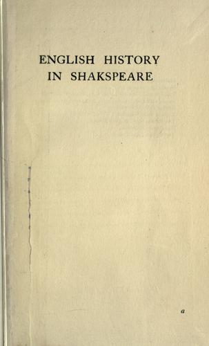 Download English history in Shakspeare.