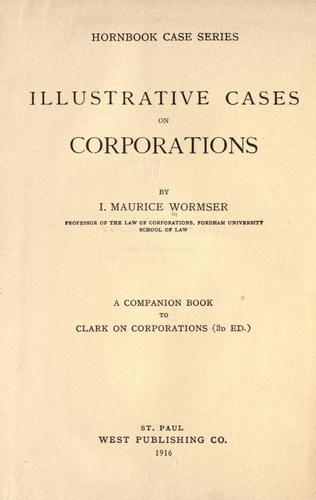 Download Illustrative cases on corporations