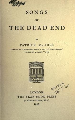 Songs of the dead end.
